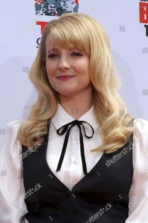 """Melissa Rauch, member of the cast of the TV series """"The Big Bang Theory"""" attends a handprint in cement ceremony at the TCL Chinese Theatre on at in Los Angeles"""