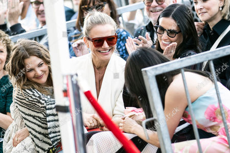 Drew Barrymore, Cameron Diaz, Demi Moore and Lucy Liu react during Lucy Liu's 2,662nd Star ceremony on the Hollywood Walk of Fame in Hollywood, California, USA, 01 May 2019. The star was dedicated in the Category of Television.