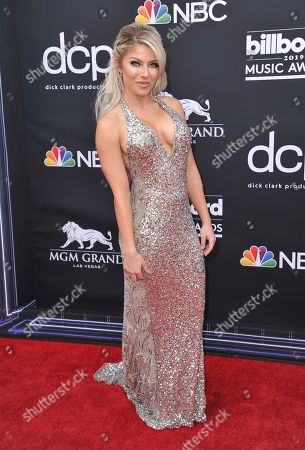 Alexa Bliss arrives at the Billboard Music Awards, at the MGM Grand Garden Arena in Las Vegas