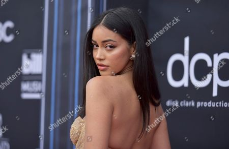 Cindy Kimberly arrives at the Billboard Music Awards, at the MGM Grand Garden Arena in Las Vegas