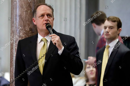 Stock Picture of Sen. Jack Johnson, R-Franklin, speaks during a debate on school voucher legislation, in Nashville, Tenn. The GOP-supermajority House and Senate passed a negotiated version of the bill that would increase the amount of public dollars that can pay for private tuition and other expenses