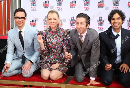 Editorial photo of 'The Big Bang Theory' Cast Handprint Ceremony, TCL Chinese Theatre, Los Angeles, USA - 01 May 2019