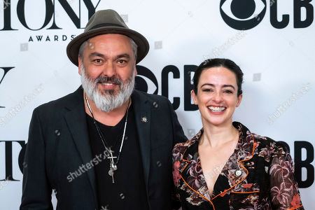 """Laura Donnelly, Jez Butterworth. Jez Butterworth and Laura Donnelly participate in the 73rd annual Tony Awards """"Meet the Nominees"""" press day at the Sofitel New York, in new York"""