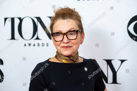 """Julie White participates in the 73rd annual Tony Awards """"Meet the Nominees"""" press day at the Sofitel New York, in new York"""