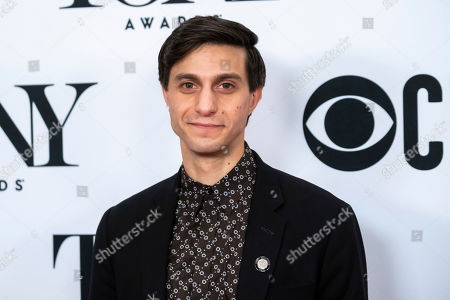 """Gideon Glick participates in the 73rd annual Tony Awards """"Meet the Nominees"""" press day at the Sofitel New York, in new York"""