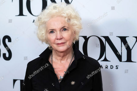 "Fionnula Flanagan participates in the 73rd annual Tony Awards ""Meet the Nominees"" press day at the Sofitel New York, in new York"
