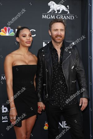 Jessica Ledon (L) and French DJ David Guetta (R) arrive for the 2019 Billboard Music Awards at the MGM Grand Garden Arena in Las Vegas, Nevada, USA, 01 May 2019. The Billboard Music Awards finalists are based on US year-end chart performance, sales, number of downloads and total airplay.