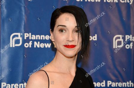 Musician Annie Clark aka St. Vincent attends the Planned Parenthood of New York City spring gala benefit at Center415, in New York
