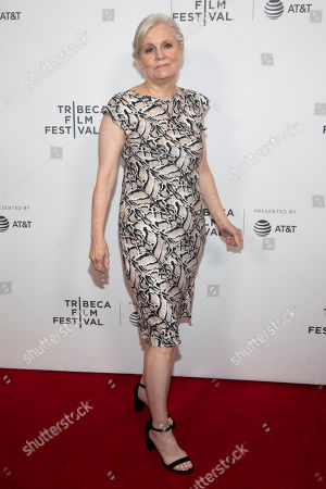 """Mary Harron attends the screening for """"Charlie Says"""" during the 2019 Tribeca Film Festival at the Village East Cinema, in New York"""