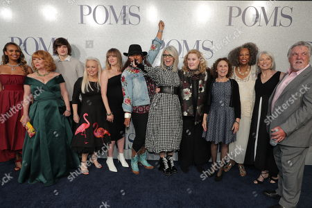 Cast of 'Poms' - Alisha Boe, Patti French, Charlie Tahan, Jacki Weaver, Zara Hayes, Pam Grier, Diane Keaton, Celia Weston, Rhea Perlman, Carol Sutton, Ginny MacColl and Bruce McGill