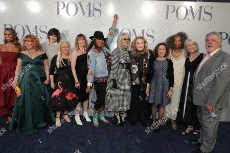 Cast of 'Poms' - Patti French, Charlie Tahan, Jacki Weaver, Zara Hayes, Pam Grier, Diane Keaton, Celia Weston, Rhea Perlman, Carol Sutton and Ginny MacColl