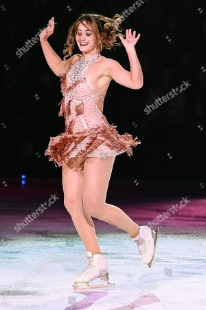Stock Image of Kaetlyn Osmond skates during the Stars On Ice show at Bell Place in Laval, Quebec