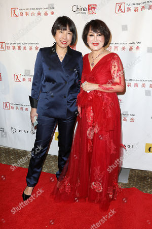 Angelica Cheung (Editor-in-Chief; Vogue China) and Yue-Sai Kan