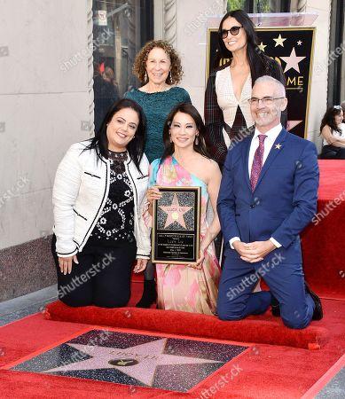 Lucy Liu, Rhea Perlman and Demi Moore