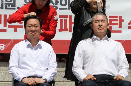 Editorial image of Opposition party rallies in front of Presidential Office in Seoul, Korea - 02 May 2019