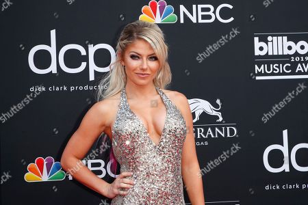 Alexa Bliss arrives for the 2019 Billboard Music Awards at the MGM Grand Garden Arena in Las Vegas, Nevada, USA, 01 May 2019. The Billboard Music Awards finalists are based on US year-end chart performance, sales, number of downloads and total airplay.