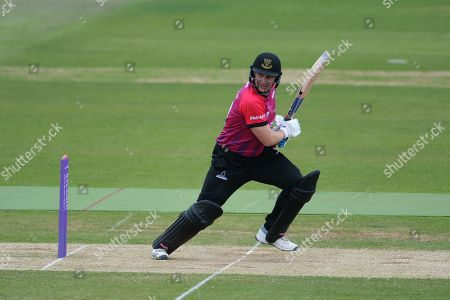 Stock Image of Luke Wright of Sussex batting during the Royal London One Day Cup match between Hampshire County Cricket Club and Sussex County Cricket Club at the Ageas Bowl, Southampton
