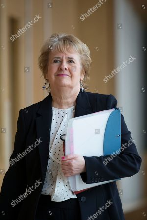 Scottish Parliament First Minister's Questions - Roseanna Cunningham, Cabinet Secretary for Environment, Climate Change and Land Reform, makes her way to the Debating Chamber