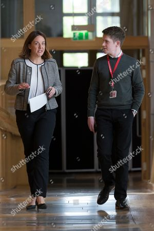 Scottish Parliament First Minister's Questions - Kezia Dugdale makes her way to the Debating Chamber