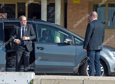 Catalan regional President, Quim Torra, arrives at Soto del Real prison to visit imprisoned pro-independent leaders, in Madrid, Spain, 01 May 2019. Pro-independent leaders Oriol Junqueras, Jordi Turull, Raul Romeva, Joaquim Forn, Jordi Cuixart and Jordi Sanchez remain in prison since they were arrested October-November 2017 after the illegal pro-independence referendum held 01 October 2017.