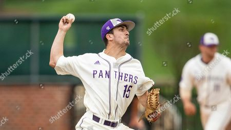 High Point's Joe Johnson (15) pitches during an NCAA college baseball game, in High Point, N.C