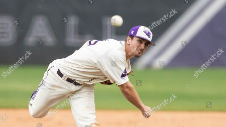 Stock Photo of High Point's Joe Johnson (15) pitches during an NCAA college baseball game, in High Point, N.C