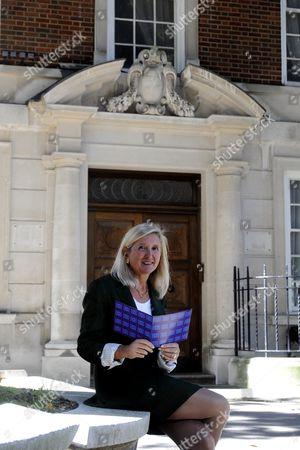 Marta Andreasen UKIP MEP outside 32 Smith Square, London