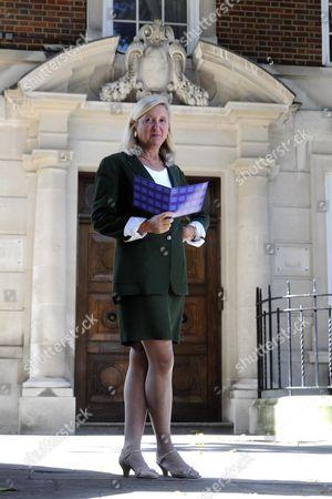 Stock Photo of Marta Andreasen UKIP MEP outside 32 Smith Square, London