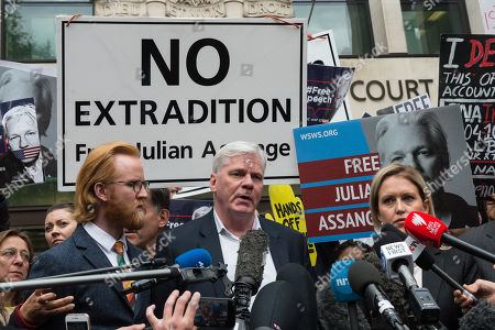 Editorial picture of Julian Assange Extradition Hearing, London, UK - 02 May 2019