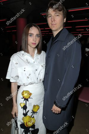 Zoe Kazan and Paul Dano in the front row