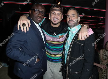Edward Enninful, Char DeFrancesco and Marc Jacobs in the front row