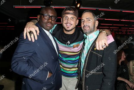 Edward Enninful, Char DeFrancesco and Marc Jacobs