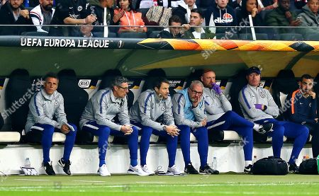 Gianfranco Zola assistant manager of Chelsea and other Chelsea coaching staff