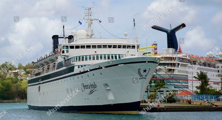 The Freewinds cruise ship is docked in the port of Castries, the capital of St. Lucia, . Authorities in the eastern Caribbean island have quarantined the ship after discovering a confirmed case of measles aboard