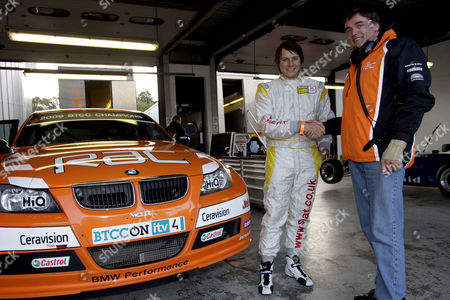 Andy Neate gets to test the British Touring Car Championship winning BMW 320 racing car with  WSR team boss Dick Bennetts.