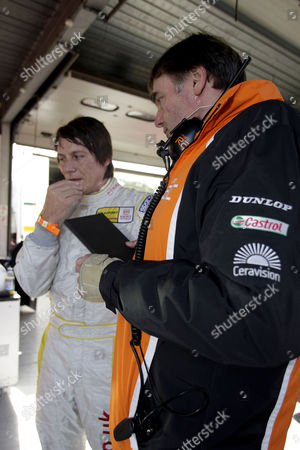 Editorial picture of Driver Andy Neate's return to the track after crash, Britain  - 2009