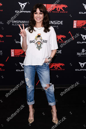 German actress Natalia Avelon attends the New Faces Award 2019 in Berlin, Germany, 02 May 2019. The New Faces Award is a young talent award that has been awarded since 1998 by the German weekly Bunte.