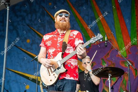 Marc Broussard performs at the New Orleans Jazz and Heritage Festival, in New Orleans