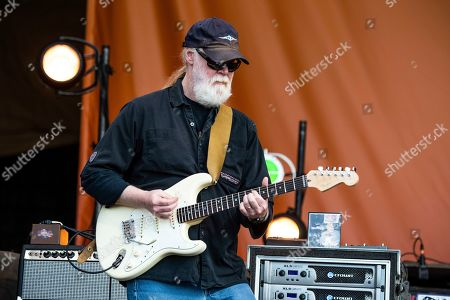 Stock Photo of Jimmy Herring of Widespread Panic performs at the New Orleans Jazz and Heritage Festival, in New Orleans