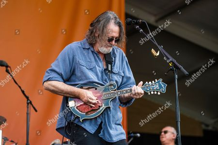 Stock Image of John Bell of Widespread Panic performs at the New Orleans Jazz and Heritage Festival, in New Orleans