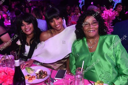 Stock Photo of Ciara with grandmother Gladys and mother Jackie Harris