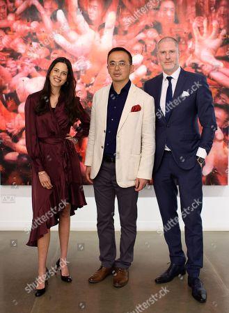 Victoria Aboucaya, Li Tianbing and Jean-David Malat