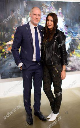 Jean-David Malat and Lisa Snowdon