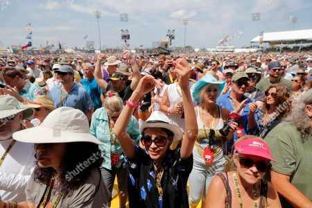 Fans clap to Samantha Fish at the New Orleans Jazz & Heritage Festival in New Orleans