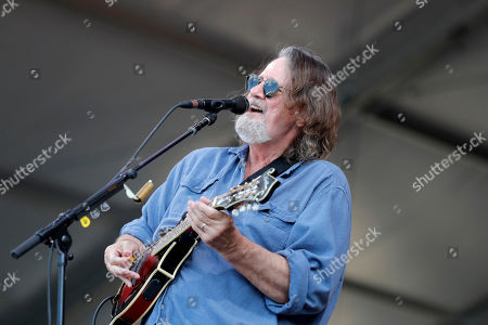 Stock Photo of John Bell, lead guitarist for Widespread Panic performs with the band at the New Orleans Jazz & Heritage Festival in New Orleans