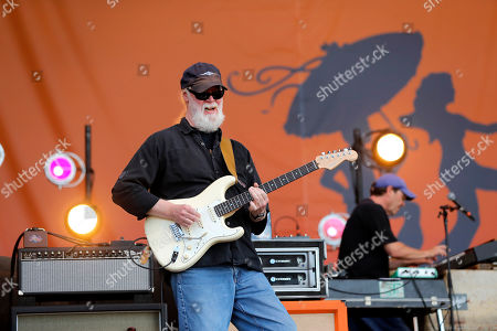 Jimmy Herring, guitarist for Widespread Panic performs with the band at the New Orleans Jazz & Heritage Festival in New Orleans