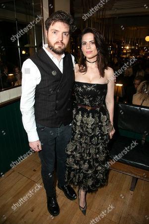 Tom Burke (John Rosmer) and Hayley Atwell (Rebecca West)