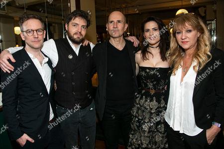Duncan Macmillan (Adaptation), Tom Burke (John Rosmer), Ian Rickson (Director), Hayley Atwell (Rebecca West) and Sonia Friedman (Producer)