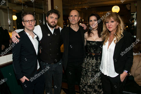 Stock Image of Duncan Macmillan (Adaptation), Tom Burke (John Rosmer), Ian Rickson (Director), Hayley Atwell (Rebecca West) and Sonia Friedman (Producer)