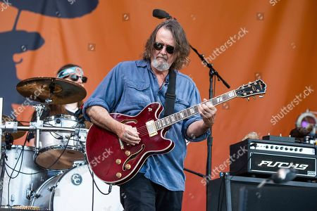 Stock Picture of John Bell of Widespread Panic performs at the New Orleans Jazz and Heritage Festival, in New Orleans